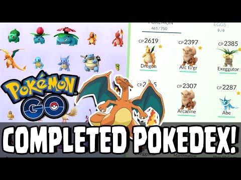 Pokemon GO! COMPLETE POKEDEX! Player Has Caught All Pokemon In Pokemon GO!!
