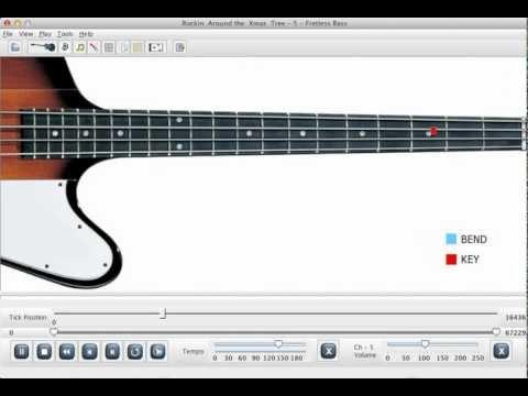Rockin Around The Xmas Tree Bass Guitar Lesson Software