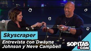 Skyscraper: Dwayne Johnson y Neve Campbell hacen el Marshmallow Challenge para Sopitas.com
