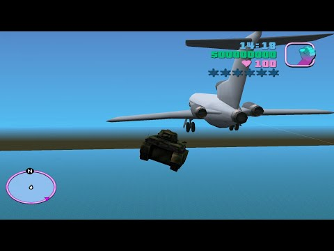 GTA Vice City Crash With Plane And Airship Plane