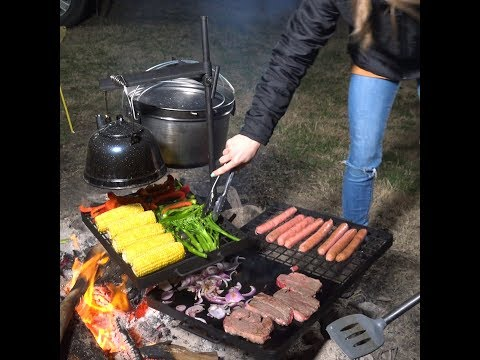 Set Up A Campfire Cook And BBQ In Minutes!