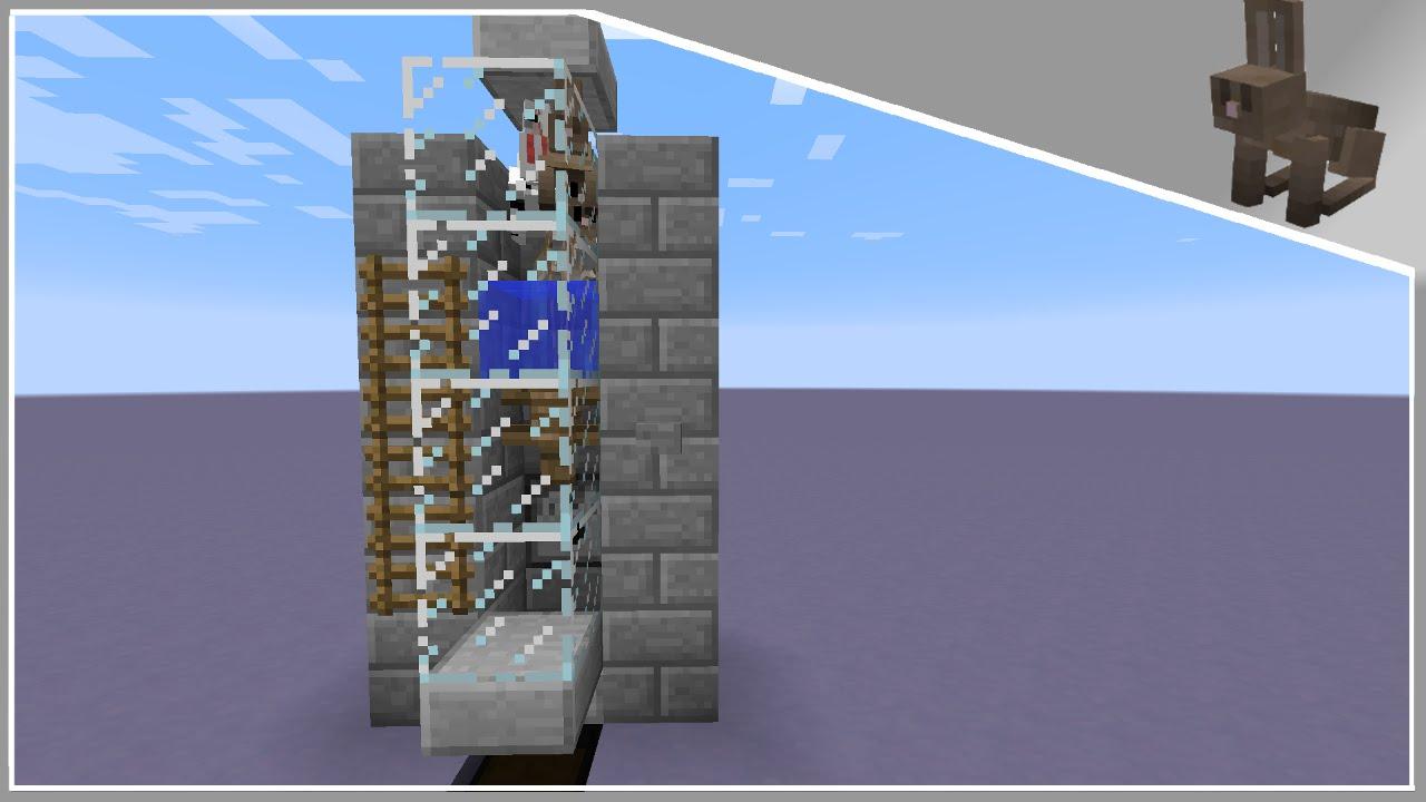 Minecraft Tutorial 3x4 Automated Rabbit Farm 18 YouTube