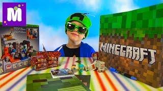 Майнкрафт большая коробка с сюрпризами и игрушками Minecraft