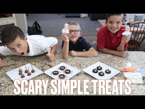 EASY HALLOWEEN TREATS FOR KIDS | FUN SPOOKY TREATS TO MAKE WITH KIDS | FAMILY HALLOWEEN ACTIVITIES