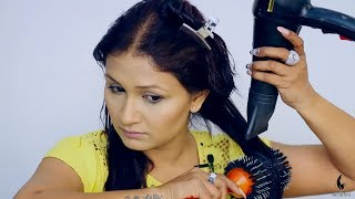 How to Blow Dry Hair at Home (Hindi)