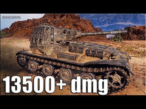 РЕКОРД по УРОНУ WOT 13500+ dmg ? топ статист ? World of Tanks максимальный урон thumbnail