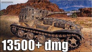 РЕКОРД по УРОНУ WOT 13500+ dmg 🌟 топ статист 🌟 World of Tanks максимальный урон