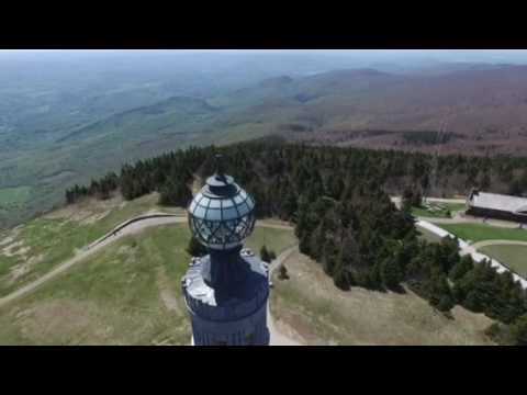 Drone footage from the summit of Mount Greylock and the Veterans Memorial Tower