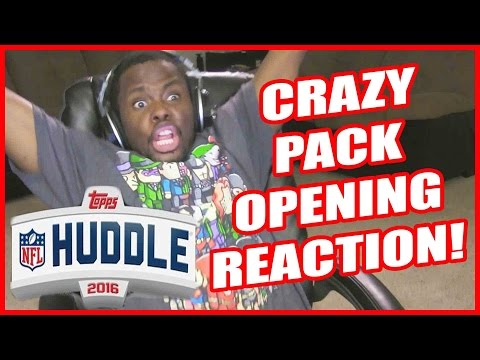 CRAZY PACK OPENING REACTION!! - Topps Huddle Pack Opening