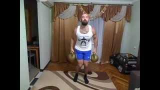 Денис Пахомов. крест с гиярми по 32 кг