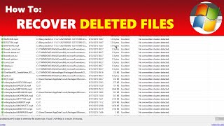 How To: Recover Deleted Files (Even Deleted From Recycle Bin)