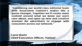 News Update: Yahoo! Inc. to Purchase Associated Content Inc. (YHOO)