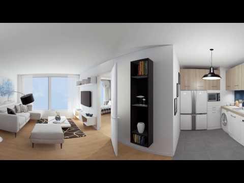 Visite panoramique d'un appartement 3 pièces - Résidence 12 Popincourt