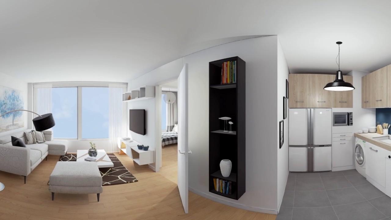 Visite panoramique d 39 un appartement 3 pi ces r sidence 12 popincourt - Visite d un appartement ...