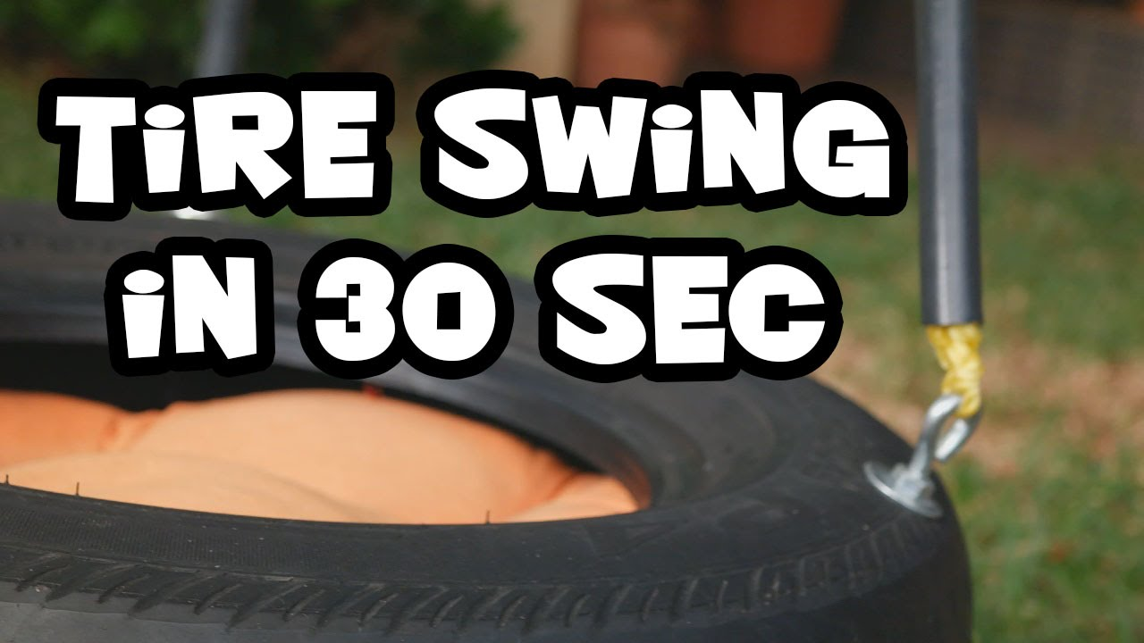 how to make a tire swing in 30 seconds youtube. Black Bedroom Furniture Sets. Home Design Ideas