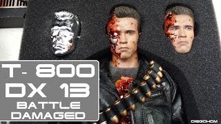 Hot Toys DX13 T800 Battle Damaged Special Ed. Unbox e Review / DiegoHDM