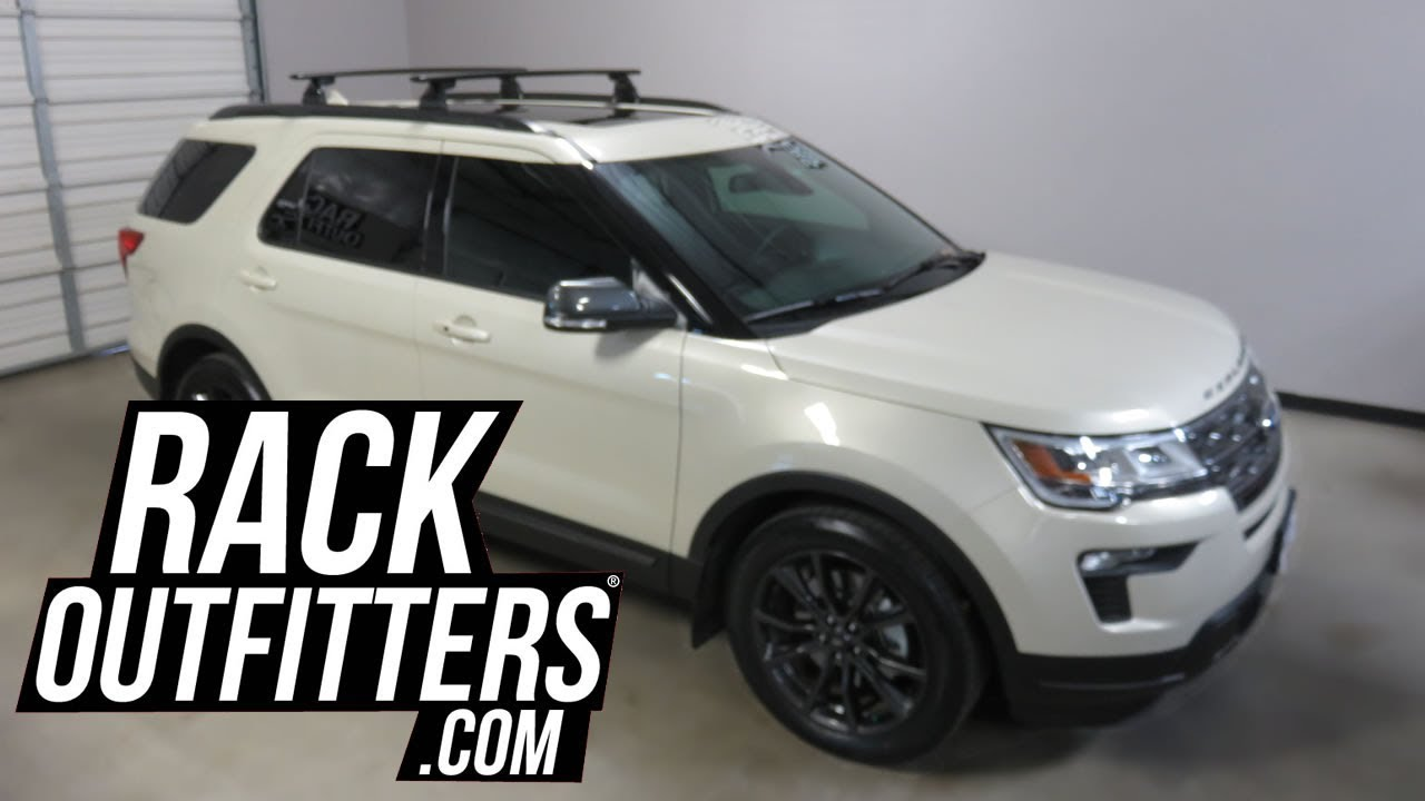 Ford Explorer With Yakima Skyline Jetstream Roof Rack