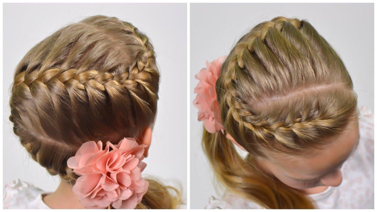 "how to: french braid ""snake"" | zig zag braid | trança embutida (easy little girls hair #59) #lgh"