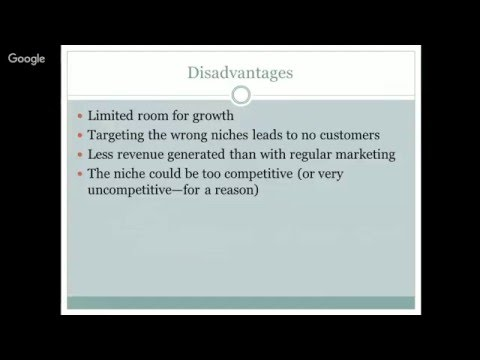 The Advantages and Disadvantages of Niche Marketing
