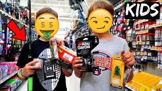 KIDS Pick My Fishing Gear CHALLENGE (They SCREWED Me!!)