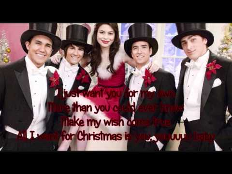 big time rush y miranda cosgrove all i want for christmas letra youtube - Big Time Rush Christmas