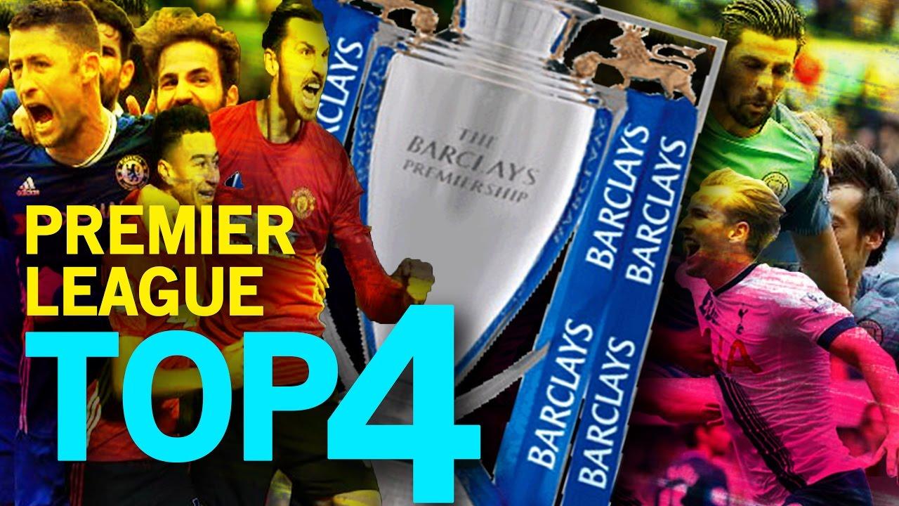 Kết quả hình ảnh cho Top 4 Premier League