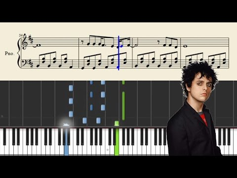 Green Day  Bang Bang  Piano Tutorial + SHEETS