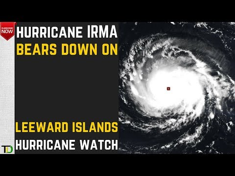 Hurricane IRMA bears down on the Caribbean.The Leeward Islands under Hurricane WATCH! #Sept 4, 2017