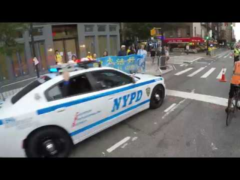NYPD, FDNY, Secret Service escorting VIP motorcade during the UN General Assembly