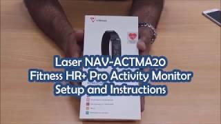 Laser NAV-ACTMA20 Fitness HR+ Pro Activity Monitor Setup and Instructions
