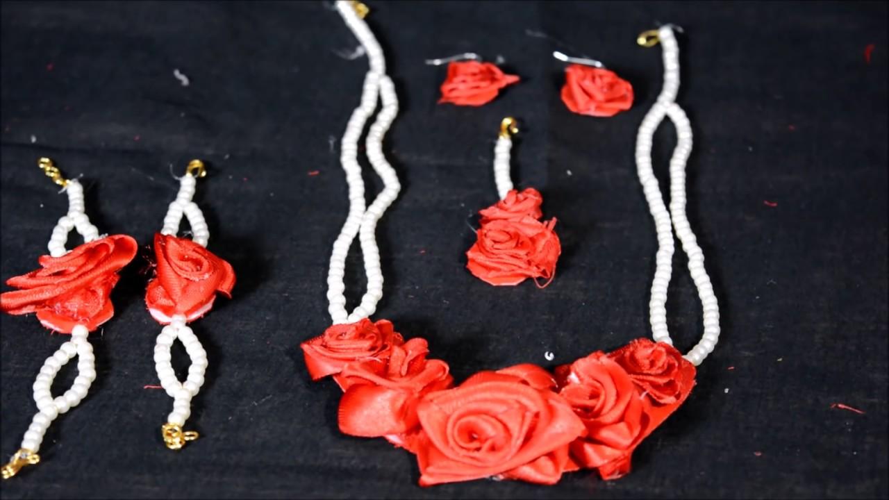 Varnaranjita || Artificial flower jewellery - YouTube
