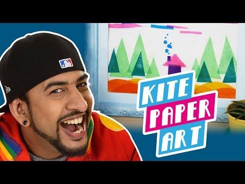 How To Make a DIY Kite Paper Art