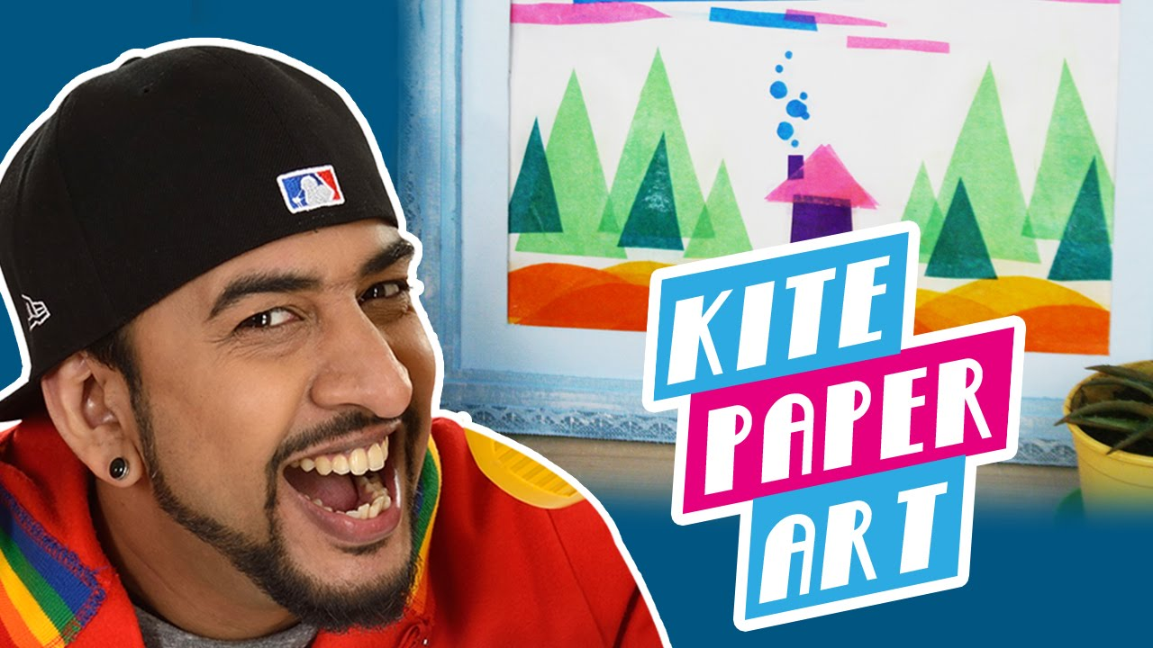 How To Make A Diy Kite Paper Art Youtube