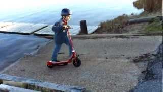 Razor Electric Scooter Kid Cruizin Around The Neighborhood