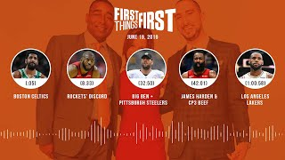First Things First audio podcast (6.19.19)Cris Carter, Nick Wright, Jenna Wolfe | FIRST THINGS FIRST