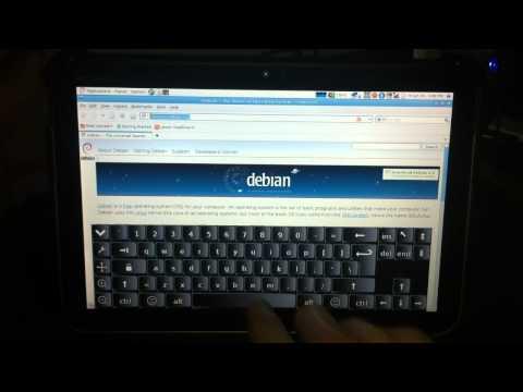 Motorola Xoom running Debian Linux