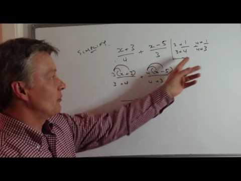 How to simplify algebra fractions - GCSE level 5