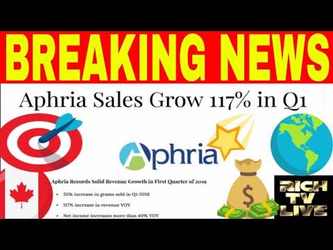 Aphria Inc. sales grow 117% in Q1 (OTCQB: APHQF) (TSX: APH)