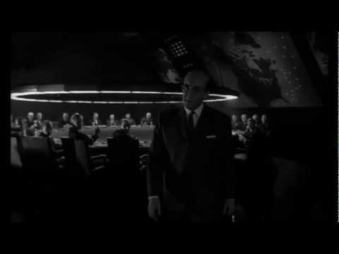 Dr. Strangelove  George C. Scott trips and falls