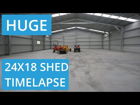 Large Commercial Workshop Shed Build