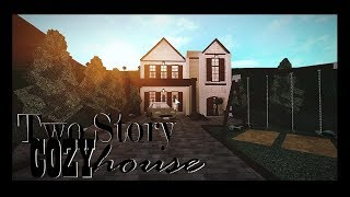 🍂Roblox/Bloxburg/Two Story Cozy House/Speed-build+Tour🍂