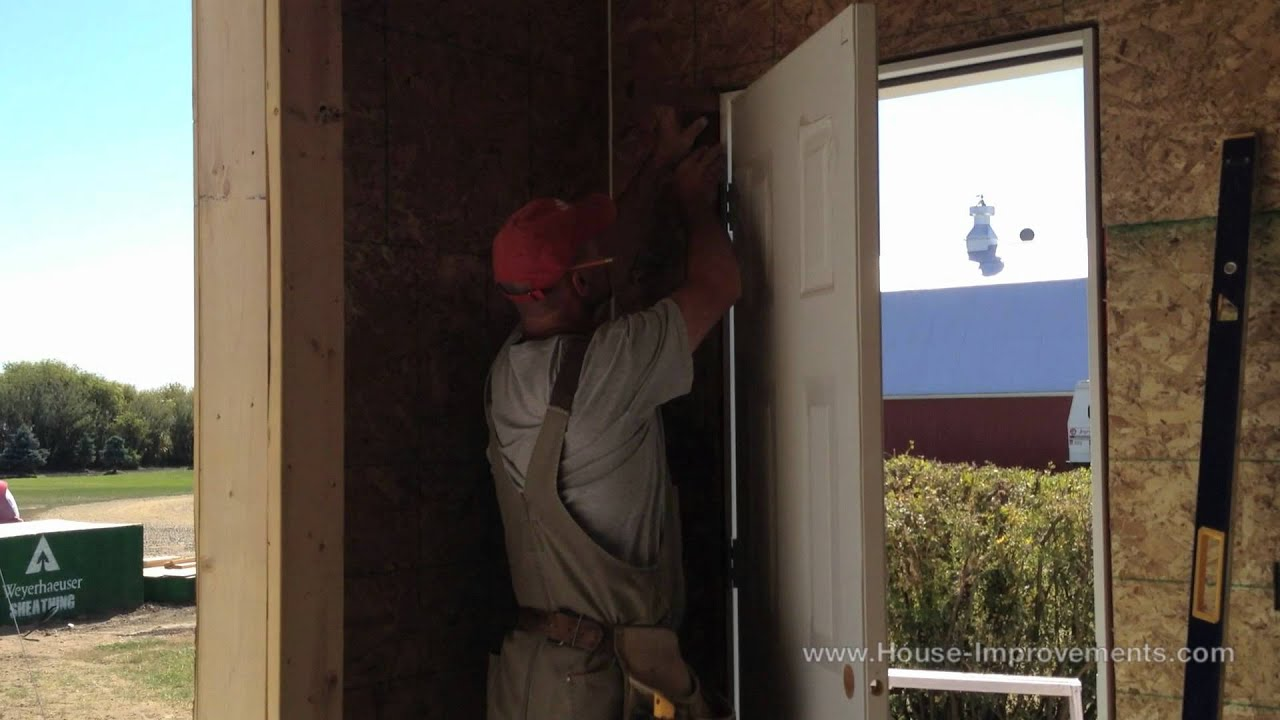 How To Install An Exterior Door   YouTube Part 27