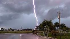 Blitzeinschläge mit Handy aufgenommen! Fast gestorben.