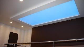32. Светопрозрачный потолок: гипсокартонная основа