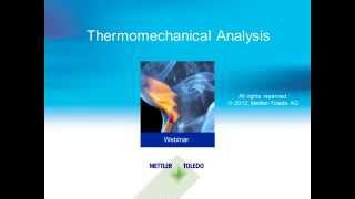 Thermomechanical Analysis (TMA) – online training course