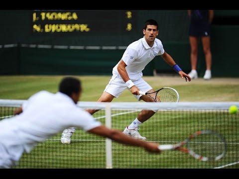 Novak Djokovic ♦ Top 10 Point Against Tsonga in Grand Slam (HD)