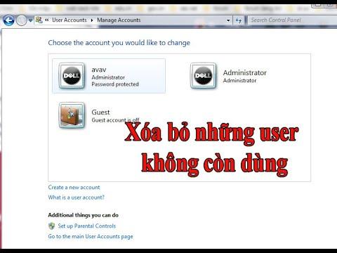 Hướng dẫn xóa tài khoản user trên máy tính windows 10