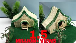 Recycling Art and Crafts :DIY Matchstick Fairy House Showpiece