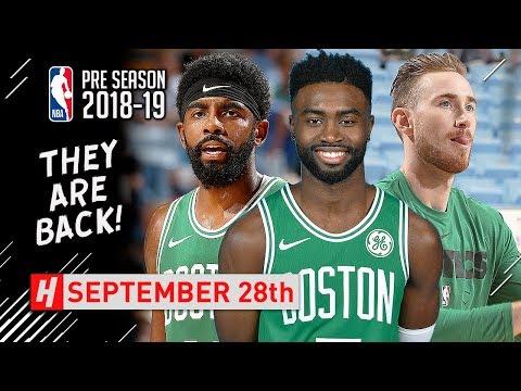 Kyrie Irving, Gordon Hayward & Jaylen Brown Full Highlights vs Hornets 2018.09.28 - SICK!