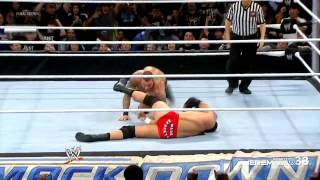 Randy Orton RKO on Wade Barrett - Smackdown - February 1, 2013